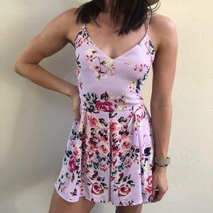 Pink/Floral Romper Size 2